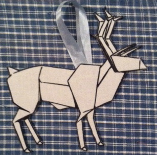 deerorigamiornament